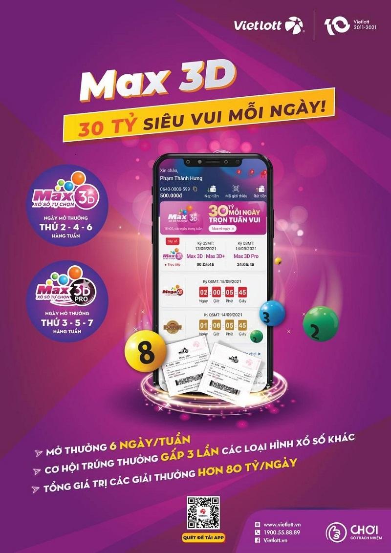 Xổ số Max 3D, cách chơi quen thuộc với người Việt Nam